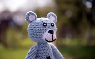 разное, игрушки, медведь, вязаный