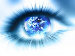 разное, компьютерный дизайн, глаз, планета, зрачок, ресницы