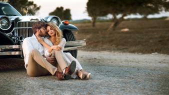 разное, мужчина женщина, дорога, влюбленные, автомобиль