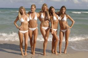 разное, знаменитости, девушки, модели, купальники, море, берег, alessandra, ambrosio, doutzen, kroes, marisa, miller, miranda, kerr, karolina, kurkova