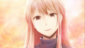 аниме, kuzu no honkai, фон, взгляд, девушка