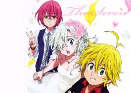 аниме, nanatsu no taizai, персонажи