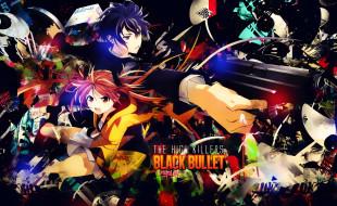 аниме, black bullet, двое