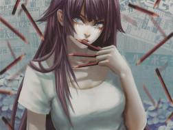 обои для рабочего стола 1920x1448 аниме, bakemonogatari, девушка
