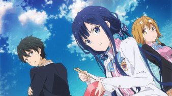 аниме, masamune-kun no revenge, фон, девушки, взгляд