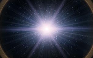свет, квазар, звёзды, космос, галактика, Вспышка