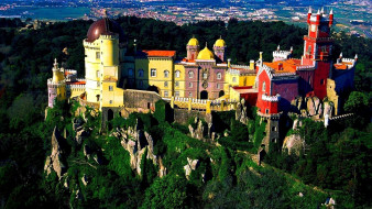 pena palace португалия, города, - дворцы,  замки,  крепости, pena, palace, португалия