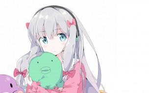аниме, eromanga-sensei, фон, взгляд, девушка
