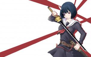 аниме, busou shoujo machiavellianism, busou, shoujo, machiavellianism, sword, seifuku, bishojo, martial, artist, mask, blade, ken, katana, rin, onigawara, armed, girl's, machiavellism, horn