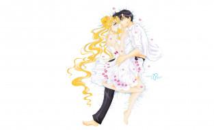 аниме, sailor moon, пара