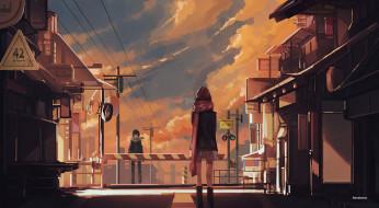 аниме, noragami, город