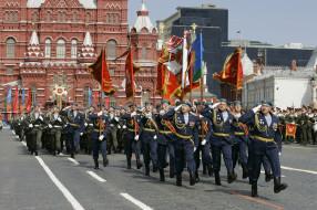 праздничные, день победы, парад, победы, военные, голубые, береты, десантники, вдв, гордость, знамена, марш, войска, ура, день, маршируют, 9, мая, государственный, исторический, музей, красная, площадь, россия, флаги