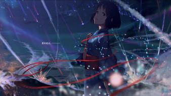 аниме, kimi no na wa, девушка