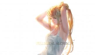 аниме, fullmetal alchemist, девушка