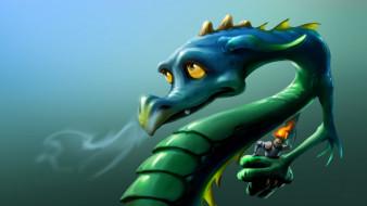 фэнтези, драконы, взгляд, фон, дракон