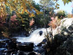 обои для рабочего стола 2560x1920 природа, водопады, осень