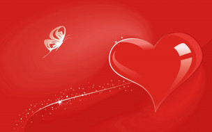 праздничные, день святого валентина,  сердечки,  любовь, день, святого, валентина, вектор, открытка, сердце, бабочка