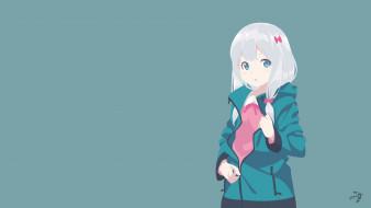 аниме, eromanga-sensei, взгляд, девушка, фон