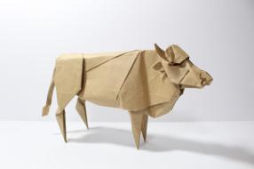 разное, ремесла,  поделки,  рукоделие, корова, оригами