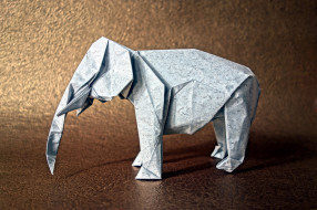 разное, ремесла,  поделки,  рукоделие, слон, оригами