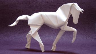 оригами, лошадь