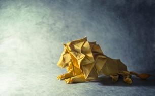 разное, ремесла,  поделки,  рукоделие, оригами, лев