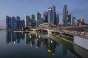 singapore, города, сингапур , сингапур, панорама, небоскребы