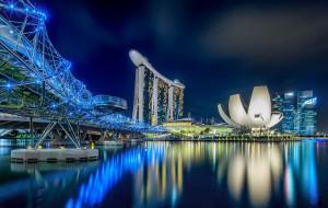 sparkling city of singapore, города, сингапур , сингапур, ночь, небоскребы, панорама