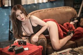 девушки, -unsort , азиатки, лицо, взгляд