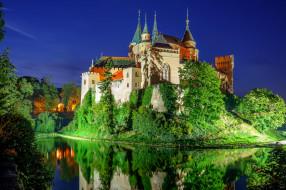 города, - дворцы,  замки,  крепости, ночь, словакия, бойницкий, замок, slovakia, bojnice, castle