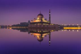 города, - мечети,  медресе, малайзия, куала-лумпур, путраджайская, мечеть
