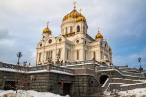 cathedral of christ a savior, города, москва , россия, храм