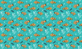 векторная графика, животные , animals, рыбки, водоросли, узор