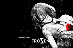 аниме, another, заморозка, пятна, кровь, winter, doll, misaki, mei, одиночество, темнота, иная, повязка, на, глаз