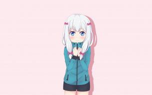аниме, eromanga-sensei, девушка, фон, взгляд