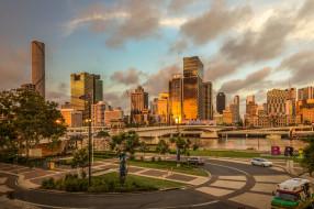 brisbane river, города, брисбен , австралия, город, река
