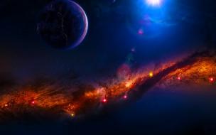 планета, вселенная, звезды, галактика