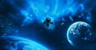 астронавт, планета