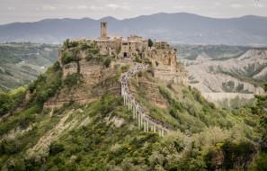 civita di bagnoregio, города, - панорамы, деревня