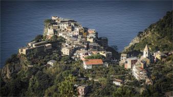 corniglia - liguria  italia, города, - панорамы, побережье