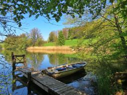 лодка, озеро