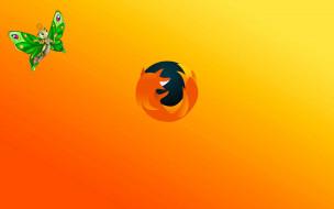 компьютеры, mozilla firefox, логотип, фон