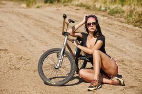 девушки, -unsort , брюнетки,  шатенки, велосипед