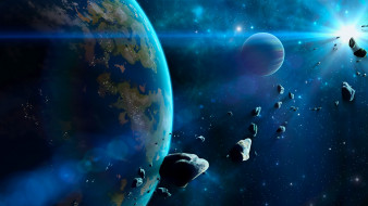 обои для рабочего стола 2240x1260 космос, арт, вселенная, звезды, галактика, планеты