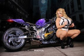 girls and moto 170, мотоциклы, мото с девушкой, moto, синий, girls