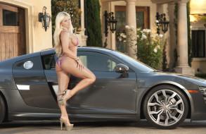 фон, девушка, автомобиль, взгляд