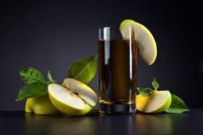 яблочный, яблоки, стакан, сок