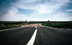 шоссе, разметка, поворот