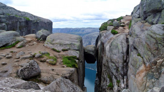 расщелина, камни, скалы