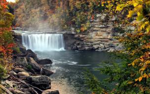 осень, камни, вода